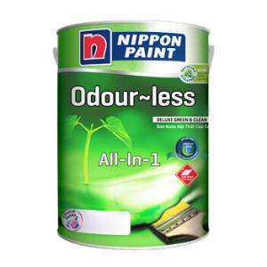 Sơn Nippon Odour-less All-in-1 Trắng (Bóng, Không Mùi)