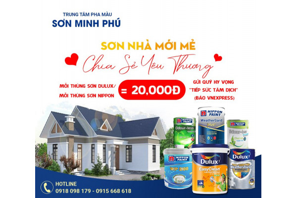 Tiếp sức tâm dịch cùng Trung Tâm Pha Màu Sơn Minh Phú