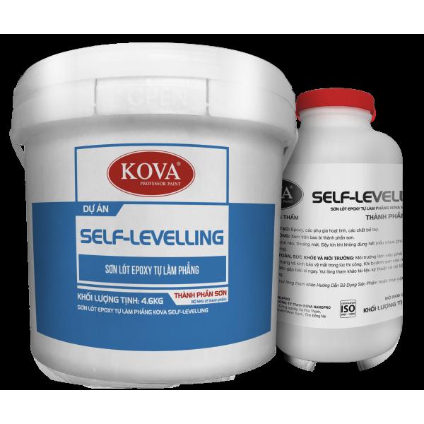 Sơn lót Epoxy tự làm phẳng KOVA SELF-LEVELING màu đậm 5kg