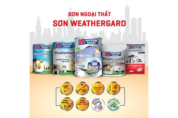 Sơn Nippon Weathergard Plus+, Sơn ngoại thất cao cấp được các nhà thầu khuyên dùng.