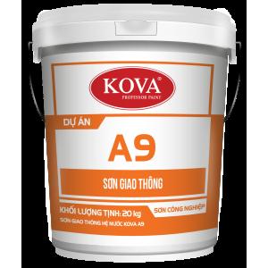 Sơn Giao Thông Hệ Nước KOVA A9- Màu Đen 20kg