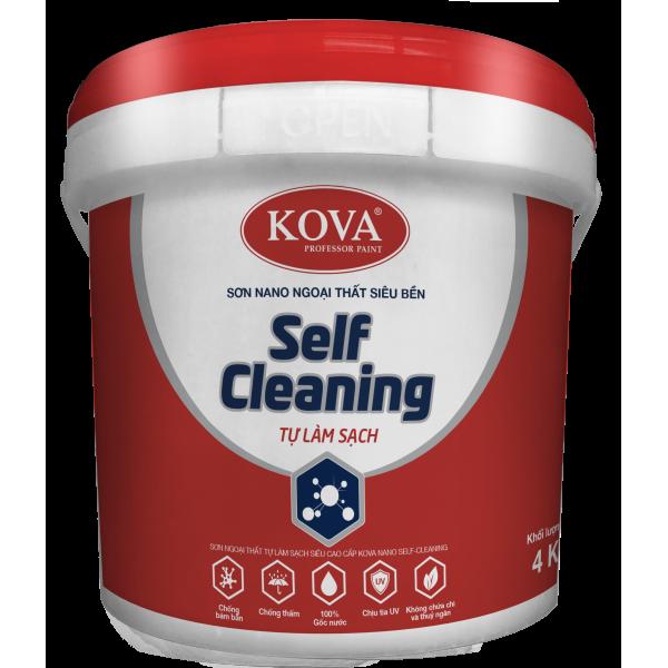 Sơn ngoại thất tự làm sạch siêu cao cấp KOVA NANO Self Cleaning Bề mặt bóng
